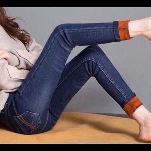 Fleece lined jeans skinny 23-25